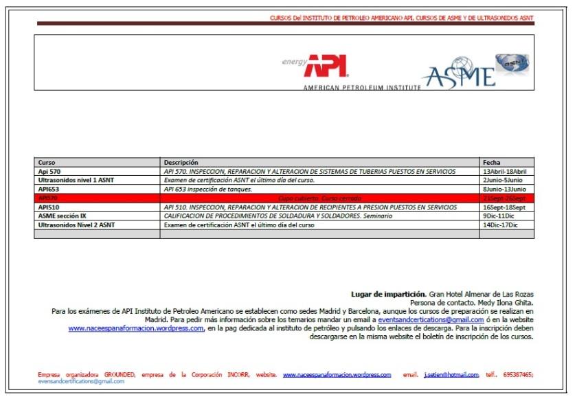 calendario API